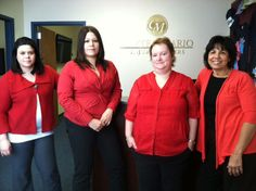 Our Bridgeport office was the first one to send in photos of the staff in red. Lookin' good!