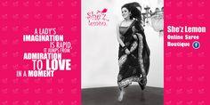 Celebrate Womanhood :) Join She'z Lemon Sarees Online for trendy, fashionable sarees, salwars, and more. visit: https://www.facebook.com/pages/Shez-Lemon/185269778201460
