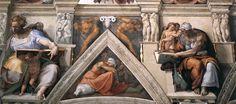 Vaticano / Roma La Cappella Sistina.   Michelangelo Pittore italiano, scultore, architetto e poeta  nato 1475 morto il 1564  Nato a: Caprese Michelangelo (Arezzo, Toscana, Italia)  morto a: Roma (Lazio, Italia)