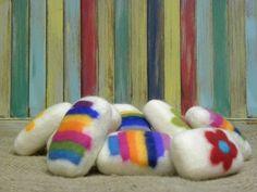 Felted goats milk soap by Doreen Carscadden of Sooke BC available at #barkingdogstudio