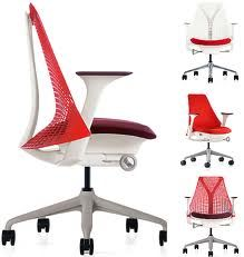 herman miller chair in bold bright red to get those creative juices flowing