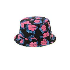 Quintin Co Paradise Reversible Bucket Hat ($40) ❤ liked on Polyvore featuring accessories, hats, fishing hat, floral fisherman hat, floral hat, floral print bucket hat and floral print hat