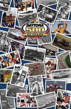 Daytona 500 50 YEARS PHOTO COLLAGE Poster - Nascar Auto Racing Commemorative Posters - available at www.sportsposterwarehouse.com Nascar Flags, Richard Petty, Monster Energy Nascar, Mario Andretti, Kevin Harvick, Daytona 500, Jeff Gordon, Pennant Banners, Dale Earnhardt Jr