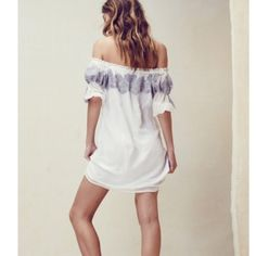 HOST PICK-The Sicily Mini Dress by For Love&Lemons Available in S, M or L.  This sultry off the shoulder mini is for chasing this season's rays. Seasons come and go, but not the Sicily Mini Dress - this mini is here to stay.  The in-house embroidery will leave a mark that you won't be able to forget.   Color: IVORY  Off the shoulder Embroidery around neckline and sleeves Fully lined For Love and Lemons Dresses Mini