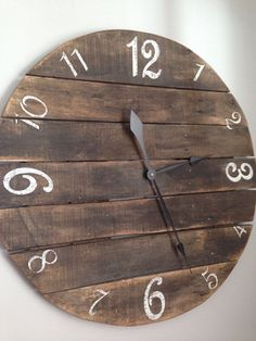 Rustic Pallet Clock made from reclaimed by Shabs2RichesVintage