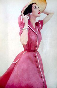 Moda para a revista Glamour, 1951-1953