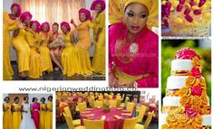 Mustard yellow and fuchsia pink wedding colors