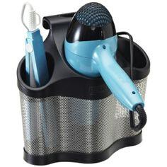 hair dryer & flat iron storage