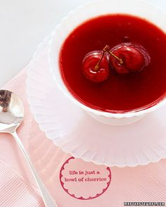 Cold cherry soup is a great cake alternative on a hot summer day - Martha Stewart
