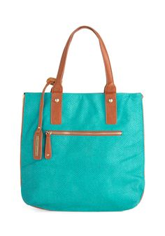 Role Reversal Bag in Mocha and Teal | Mod Retro Vintage Bags | ModCloth.com