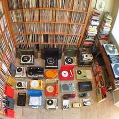 Great portable record player collection by  DJ Question