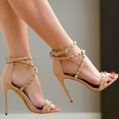 Luichiny Nude Heeled Sandals
