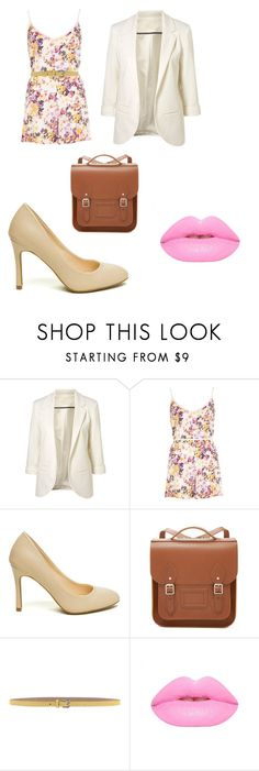"""""""outfit"""" by taylor-ross115 ❤ liked on Polyvore featuring River Island, The Cambridge Satchel Company, Dolce&Gabbana and Lime Crime"""
