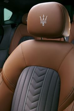 When Maserati presented the first Quattroporte at the 1963 Turin Motor Show, it not only launched the fastest four-seater car in the world, but also introduc. Maserati Sports Car, Maserati Car, Maserati Interior, Automotive Upholstery, Car Upholstery, Suv Cars, Sport Cars, Lamborghini Gallardo, Classic Cars