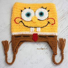 Crochet Bob the Square Sponge Hat