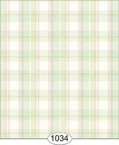 """Dollhouse Wallpaper  """" Spring Plaid in Pink and Green"""" #DollhousesandMore"""