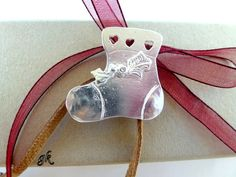Christmas Stocking Sterling silver ornament by GeorgiaCollection, €35.00