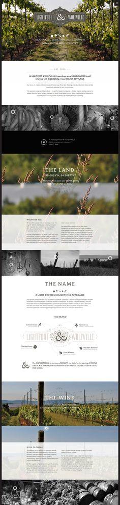 Lightfoot & Wolfville Wine Webdesign