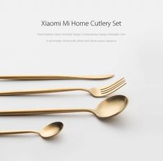 Just US$37.88, buy 4PCS Xiaomi Mi Home Polished Cutlery Stainless Steel Flatware online shopping at GearBest.com Mobile.