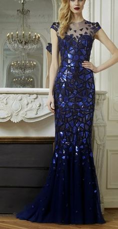 Gorgeous detailed blue royal gown~simply beautiful...like art.  No where to ever wear it just had to pin cuz it's breathtaking.