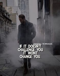 Positive Quotes : If it doesn't challenge you it won't change you. - Hall Of Quotes Great Quotes, Quotes To Live By, Me Quotes, Motivational Quotes, Inspirational Quotes, Qoutes, Super Quotes, Fitness Quotes, Quotes About Strength