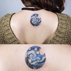 Van Gogh's The Starry Night inspired tattoo.