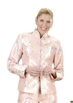 Aris A Floral Embroidered Long Sleeve Jacket EJ504 $69.99