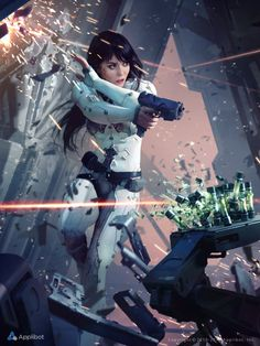 "Marek Okon-Freelance Concept Artist and Illustrator Eureka, Artwork created for Applibot's ""Galaxy Saga""."