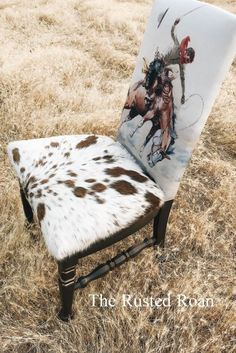 Cowboy Cowhide Upholstered Accent Chair  #accent #chair #cowboy #cowhide #upholstered