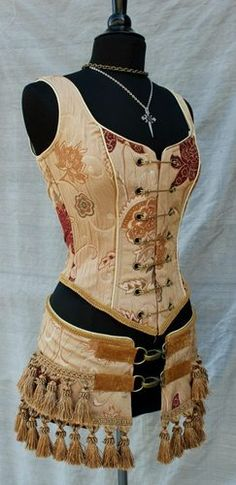 Shrine Steampunk Antique Damascus Brocade Pin Bodice | eBay