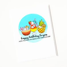Coordinates with Mix It Up Die Collection, sold separately. Absolutely Fabulous, Clear Stamps, Happy Birthday, Scrapbooking, Cards, Happy Aniversary, Happy B Day, Scrapbooks, Memory Books