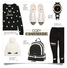 """""""COZY CASHMERE SWEATER"""" by larissa-takahassi ❤ liked on Polyvore featuring Topshop, Chinti and Parker, Miu Miu, Kate Spade, MICHAEL Michael Kors, michaelkors, katespade, topshop, cashmere and islabonita"""