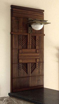 Heistand Woodwork: Frank Lloyd Wright Sconce Walnut Surround