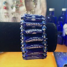 Twisted Tea bottle cap bracelet.