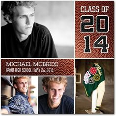 Varsity Victory - #Graduation Announcements - Fine Moments in a rich Chocolate Brown. Perfect for the graduating athlete!