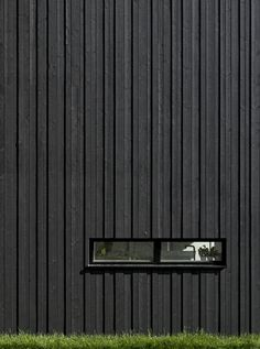 Sequenced timber cladding. Different depths and widths creates visual interest in form and shadowing