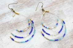 DIY Seed Bead Earrings | The Sweetest Occasion