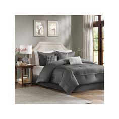 Madison Park Curtis 7-piece Bed Set, Grey
