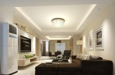 8 Satisfied Tips AND Tricks: False Ceiling Design Rustic double height false ceiling living rooms.False Ceiling Kitchen false ceiling section living rooms. Modern Minimalist House, Home Ceiling, Living Room Loft, White Ceiling, False Ceiling Bedroom, Ceiling, False Ceiling Design, Minimalist Home, Bedroom Ceiling Light