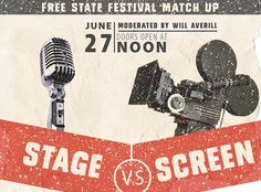 Stage Vs. Screen Free State, Music Film, Stage, Movie Posters, Film Poster, Billboard, Film Posters