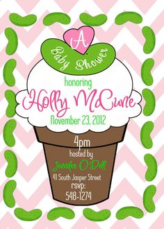 Pickles and Ice Cream Baby Shower by Church Hill Charm, $15.00