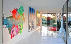 Home Design and Interior Design Gallery of Amazing Neon Artwork In A Modern Home