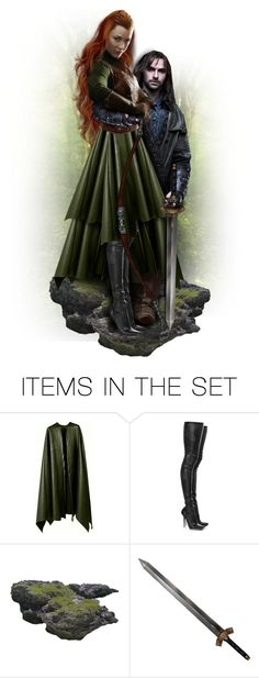 """""""Tauriel & Kili"""" by mandy-ruth ❤ liked on Polyvore featuring art, hobbit, tauriel and kili"""