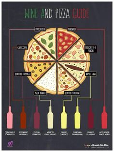 Do you love pizza and wine? Here are 8 best wines to drink with pizza. Check out this informative infographic to learn which wines to drink with pizza. Pizza Y Vino, Wine And Pizza, Best Wine To Drink, Wine Drinks, Deco Pizzeria, Traditional Italian Pizza, Pizza Branding, Wine Guide, Wine Night