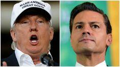 Donald Trump se reúne hoy con presidente Peña Nieto en México