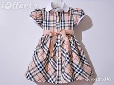 Burberry little girl's dress! Cute Kids Fashion, Little Girl Fashion, Little Girl Dresses, Girls Dresses, African Dresses For Kids, Outfits Niños, Check Dress, Kids Outfits Girls, Baby Dress