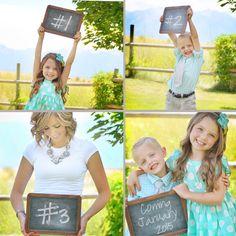 Pregnancy announcement for third child. #3 baby announcement