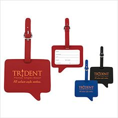 Norwood by BIC Graphic Text Luggage Tag (15783) #promoproducts