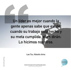 """Un líder es mejor cuando ..."" #frases #coaching #coachingempresarial #coachingejecutivo #coach #empresa #rrhh #liderazgo #lider #nosotros"
