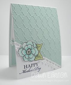 Stamps: Because of You, One Person Paper: White, Aqua coredinations, American Crafts DP Ink: Memento Black Accessories: Copics, Lace trim, modern wallpaper embossing folder, dimensionals  Read more: http://www.splitcoaststampers.com/gallery/photo/2364642#ixzz2vNHqy73a